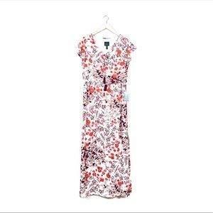 adrianna papell • floral cap sleeve maxi dress